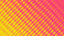 Halftone Gradient Pattern Vector Illustration. Yellow Dotted, Pink Halftone Texture. Pop Art Style Yellow Pink Halftone, Comics Background. Background Of Art. Dots Background. AI10
