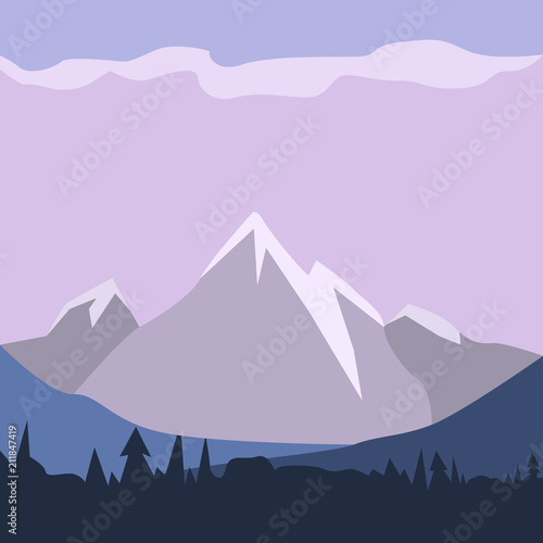 Tuinposter Purper Isolated landscape image