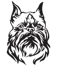 Decorative Portrait Of Dog Bru...