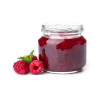 Jar With Delicious Raspberry J...