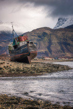 Old Boat Wreck At Caol With Be...