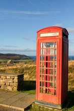 Old Telephone Box, Scottish Highlands, Scotland