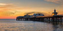 Starling Murmuration, Blackpool Pier At Sunset, Lancashire