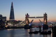 Tower Bridge Illuminated At Ni...