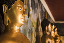 Buddha Statues At Wat Phrathat...