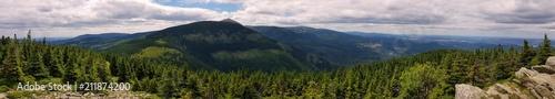 Fototapeta Panorama Sudetów w Karkonoskim Parku Narodowym obraz