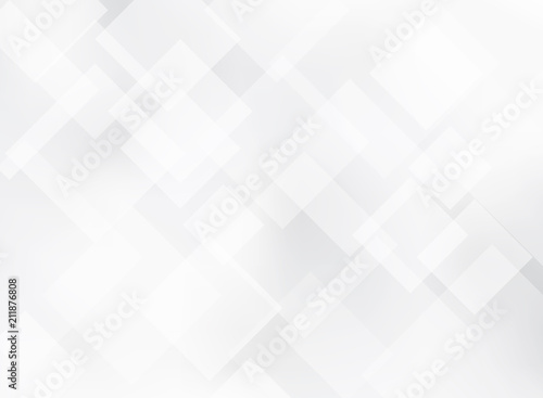 Obraz Abstract elegant gray and white squares pattern background texture. - fototapety do salonu