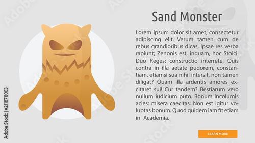 Fotografie, Obraz  Sand Monster Conceptual Banner