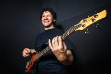 Handsome Rock Bass Guitarist P...