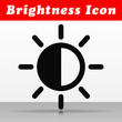 black brightness vector icon design