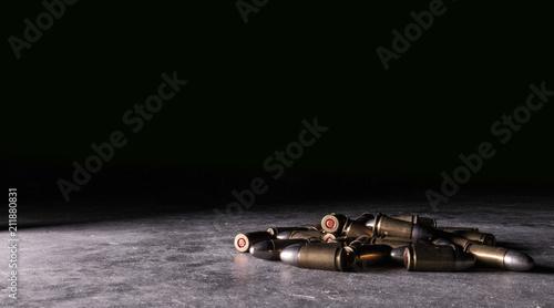 9mm Luger Ammo Bullet Cartridge Pile 2 Wallpaper Mural