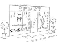 Sport Store Shop Exterior Grap...