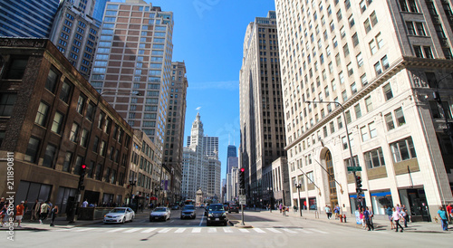 Spoed Foto op Canvas Amerikaanse Plekken Chicago - Magnificent Mile