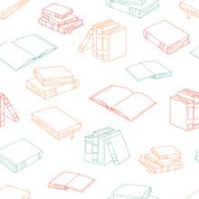 Books Graphic Color Seamless P...