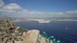 Cabo San Lucas bay with a cruise ship - Mexico