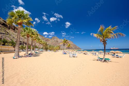 Poster Canarische Eilanden Teresitas beach near San Andres,Tenerife,Spain