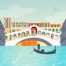 Illustration Of The Rialto Bri...