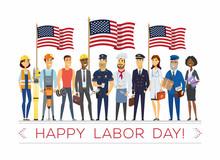 Happy Labor Day - Modern Vecto...