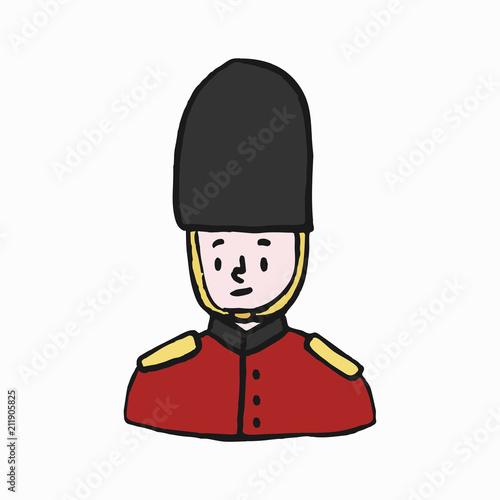 Photo  Foot guard, British army illustration