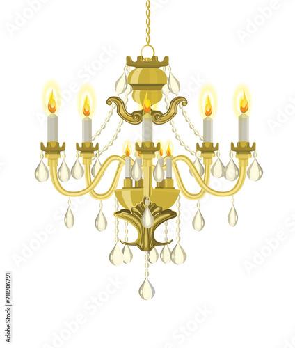 Fotografía Golden vintage chandelier