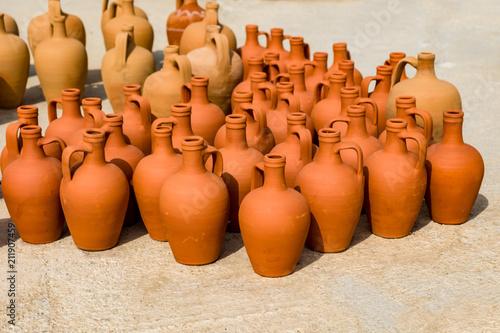 Traditional Mediterranean jugs.