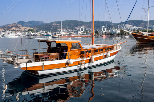 May 24, 2018, Bodrum, Turkey: Yachts parked in the harbor.