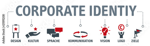 Cuadros en Lienzo Banner Corporate Identity Konzept