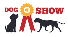 Dog Show And Prize Poster Vect...