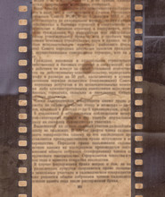 Vintage Background With Old Newspaper And Retro Film Strip