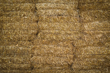 Texture Of Straw Bales, Backgr...