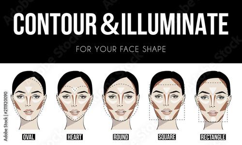 Face Shapes Stock Vrgrafik