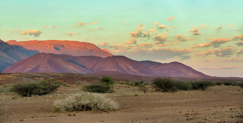 Brandberg Mountain in Namibia, Africa wilderness