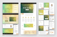 Website Template Design With I...
