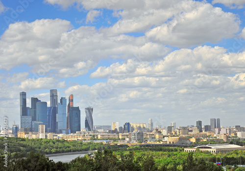 Photo  Panorama of Moscow and Moscow-city district
