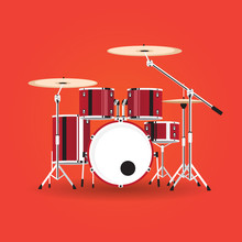Vector Equipment Drum Kit With...
