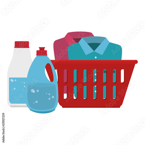 Fotografia, Obraz laundry service basket equipment vector illustration design