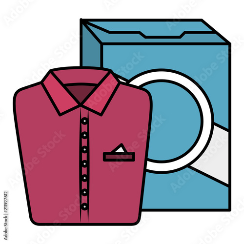 Tuinposter Sprookjeswereld shirts and clothes laundry service vector illustration design