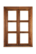 Exterior Of A Wooden Window Is...