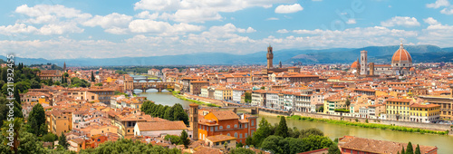 Stickers pour porte Florence Florence. Italy. Panorama of Florence on a sunny day.