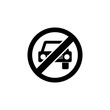 The icon of car ban, prohibition, embargo, interdict, forbiddance. Simple flat icon illustration, vector of car ban, prohibition, embargo, interdict, forbiddance for a website or mobile application