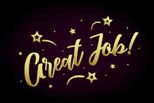 Great Job Card, Banner. Beauti...