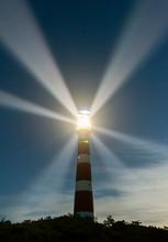 Lighthouse Rotating Beams At N...