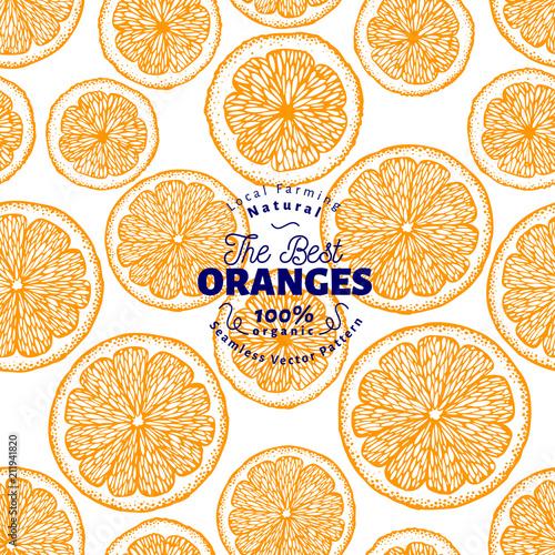 Fotografiet Orange seamless pattern