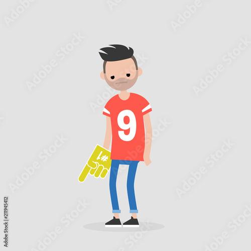 Fotografia  Young upset football fan