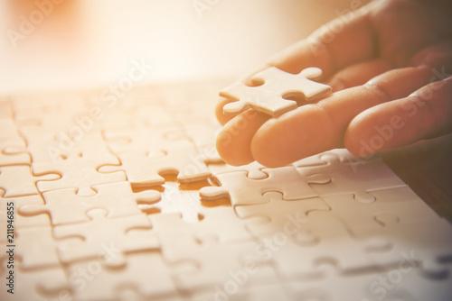 Fotografie, Tablou  close up of a puzzle game parts