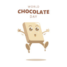 Cute Cartoon Of Chocolate Bloc...