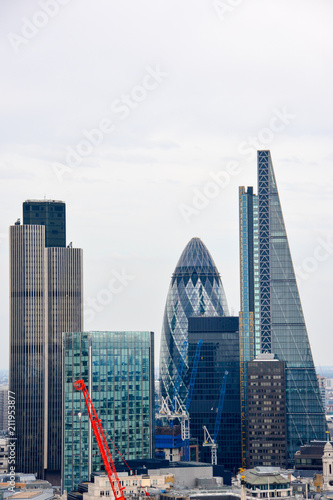 Recess Fitting London LONDON, UK - JULY 19, 2014: City of London one of the leading centers of global finance. Skyline on a beautiful summer day.