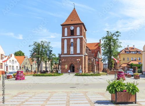 Parish  church of Saint James Apostle in Tolkmicko, Gdansk Pomerania in Poland