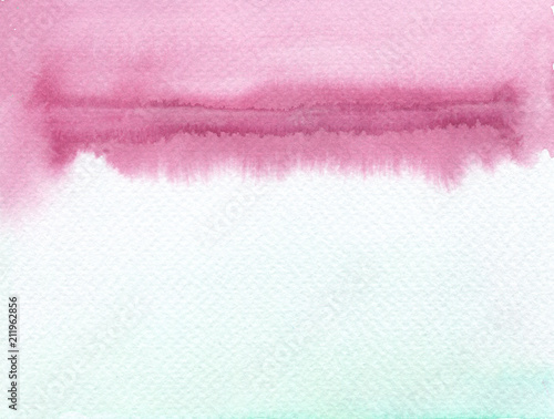 Abstract watercolor blot painted background.