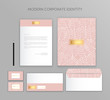 Corporate identity business set. Modern stationery template design. Documentation for business.
